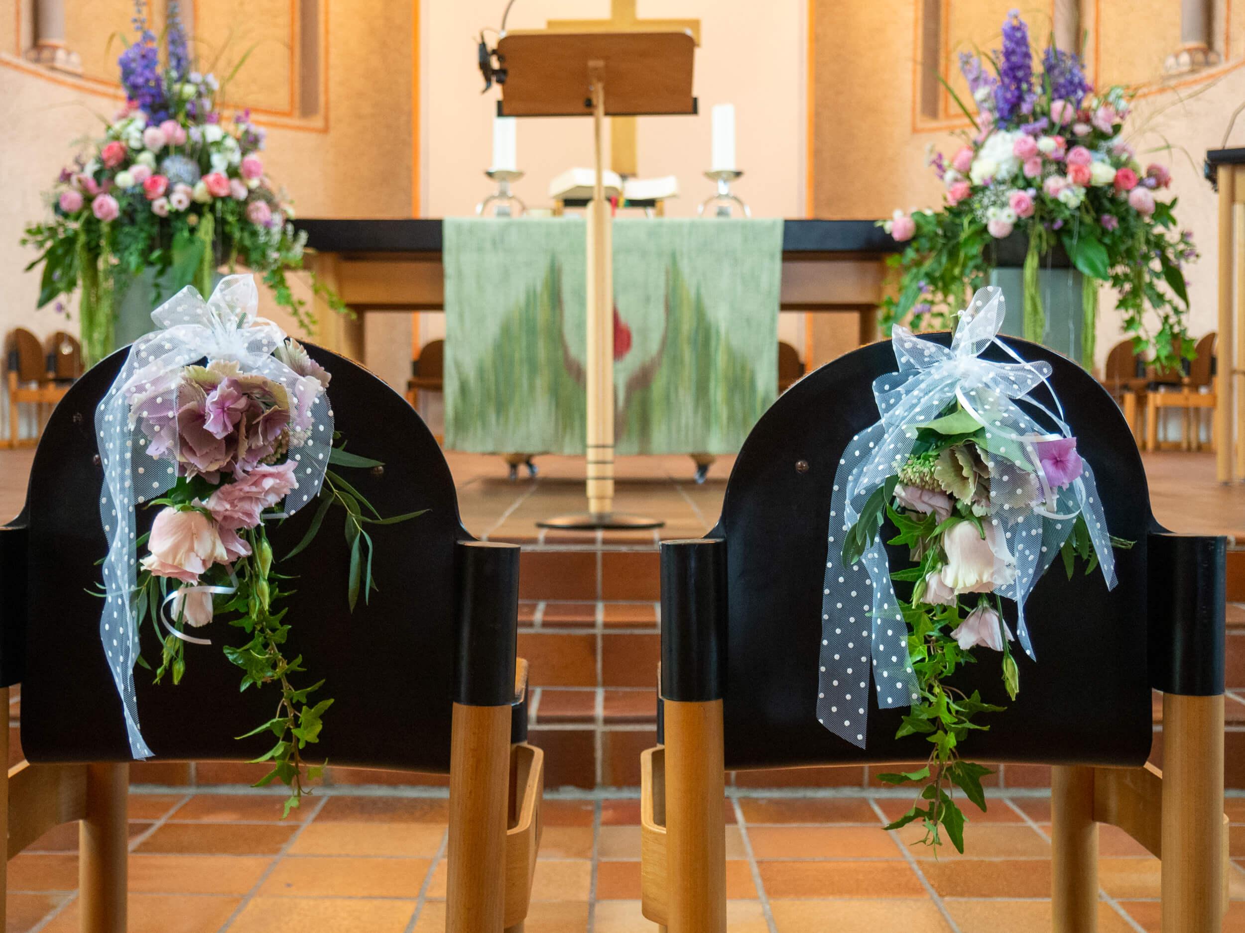 Kirche Special Deko für Hochzeit