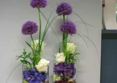 Tischdeko Violett mit Allium