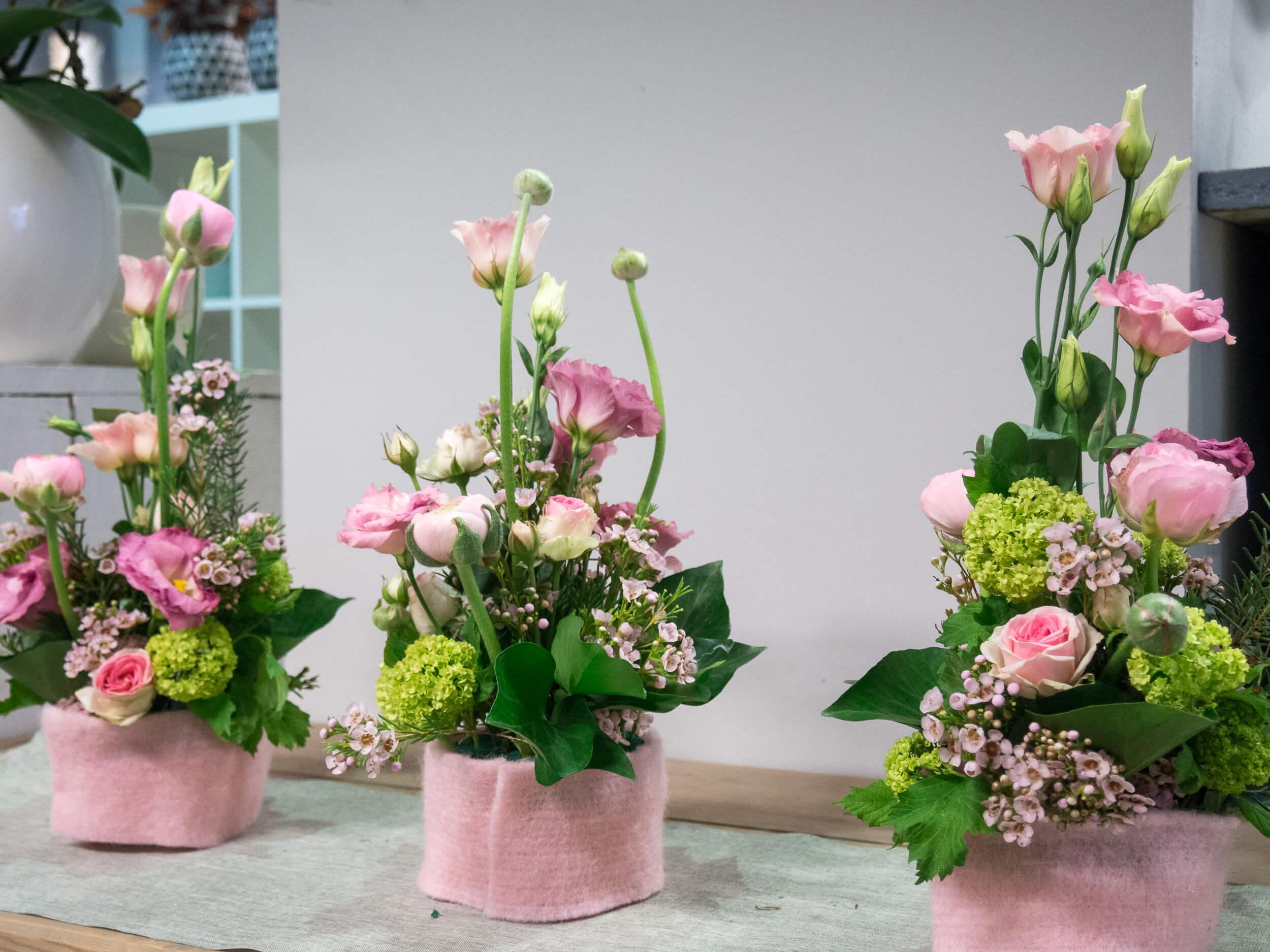 Tischdeko Mittel in Pink