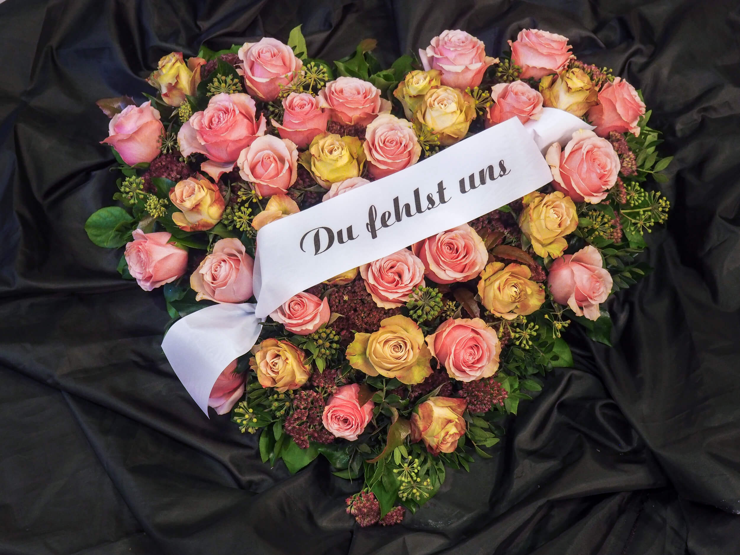 Rosenherz für Bestattung