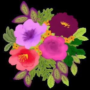 Runder Blumenstrauss Bunt