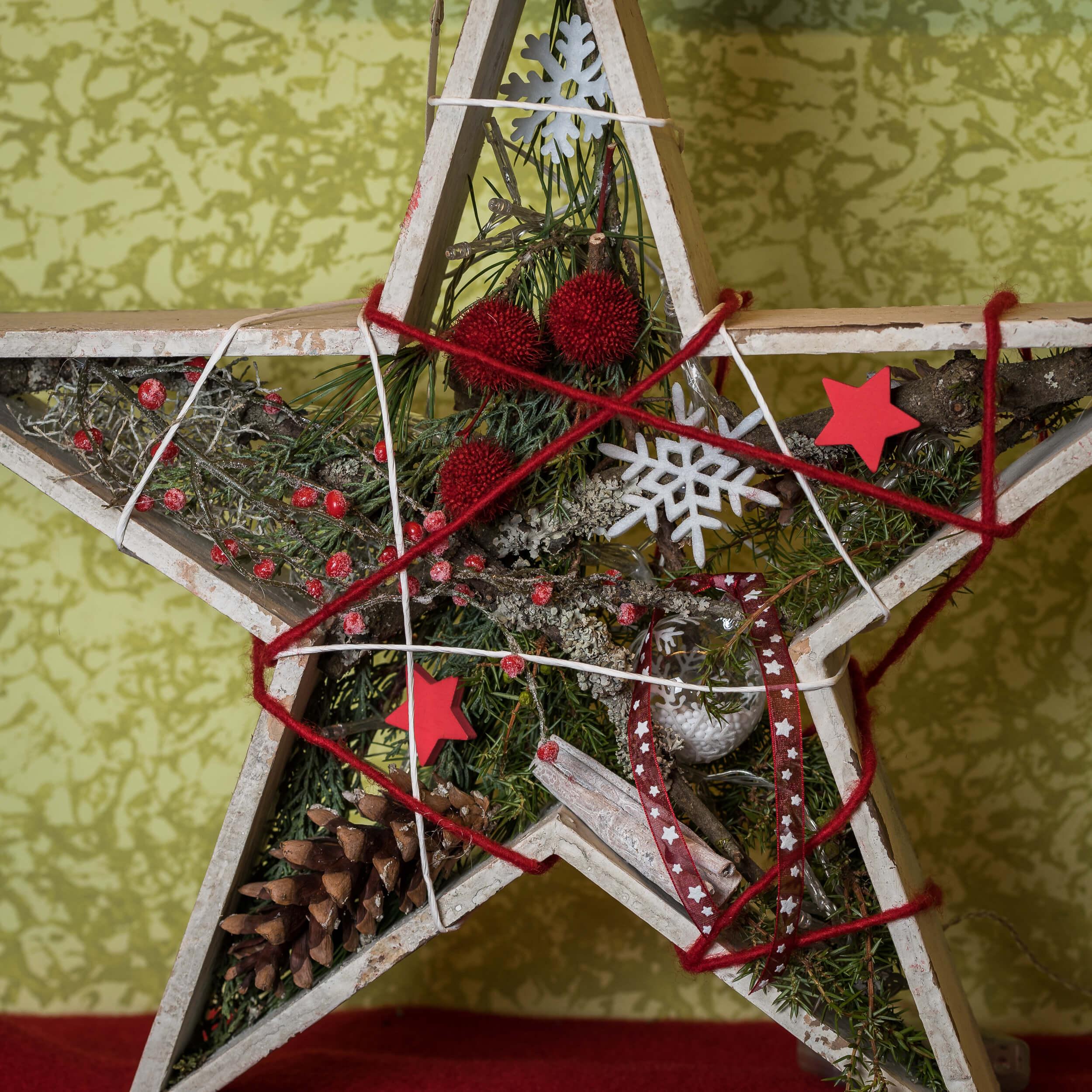 Stern Zu Weihnachten Rot Weiss