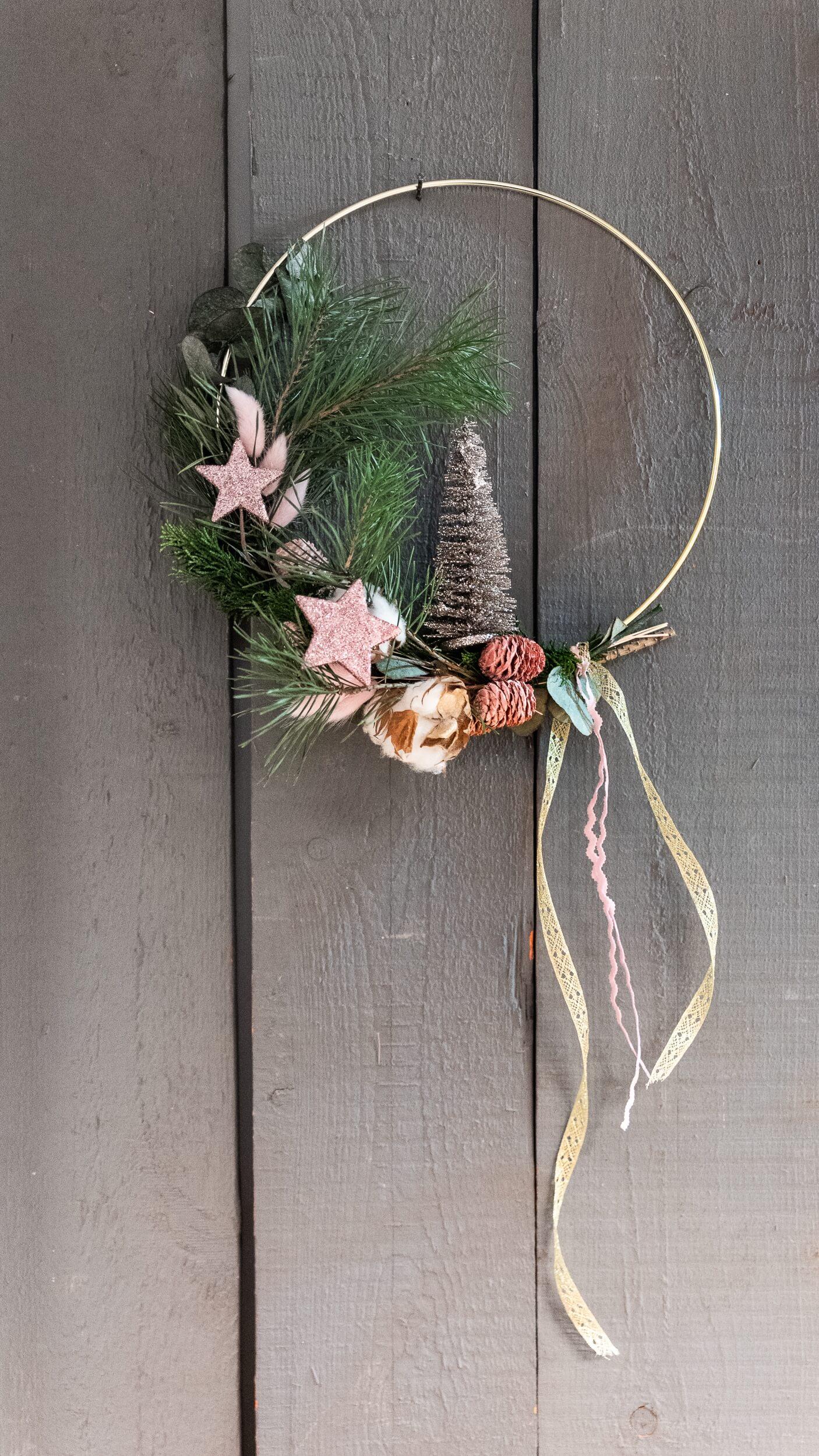 Türkranz weihnachtlich elegant und schmal
